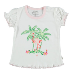 EBI & EBI Fairtrade T-Shirt weiß/rosa