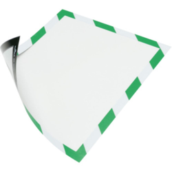 Magnetrahmen. magnethaftende Rückseite A4 Farbe grün/weiß
