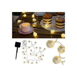 Pauleen LED-Lichterkette Sunshine Glamour, Solarbetrieben