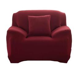 Sofahusse 1-Sitzer Sofabezug elastischer Sofahussen elastischer Sofabezug Sofabezug Sofabezug universeller elastischer Bezug Sesselbezug 90-140CM, kueatily rot
