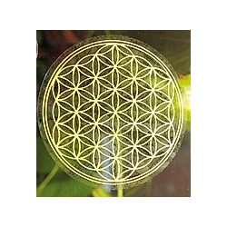 Blume des Lebens Kunststoff 3 cm, Aufkleber