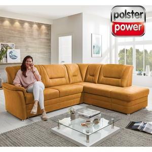 polsterpower Ecksofa - gelb - Microfaser - Basismodell