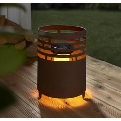 Solar Kamin mit realistischem Flammeneffekt