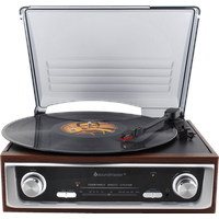 Soundmaster PL196H Plattenspieler Holz