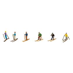 VBS Dekofigur Skifahrer, 6er-Set
