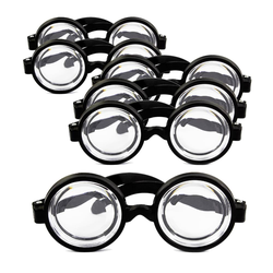 6x Idiotenbrille Streber Nerd Geek Brille Fasching Karneval Halloween