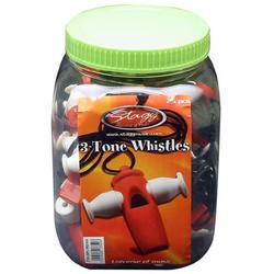 Stagg TTW-025 RD/WH Sambapfeife aus Kunststoff