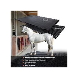 Kubus Gummimatte Puzzle-Stallmatte schwarz 80 cm x 120 cm x 20 mm