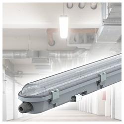 etc-shop Außen-Deckenleuchte, LED Deckenleuchte Feuchtraum 120 cm Feuchtraumwannenleuchte LED 120 cm Garagenlampe LED Röhre, Reihenschaltung, 1x LED 36 Watt 4320 Lumen kaltweiß