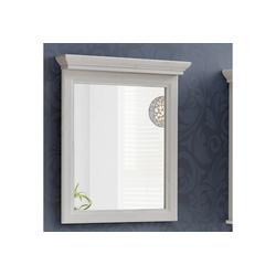 Lomadox Badspiegel CELAYA-56, Vintage Landhaus Badezimmer Spiegel 65 cm, Andersen Pine weiß, B x H x T ca. 65 x 76 x 11cm