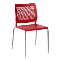 Mayer Sitzmöbel Sittec 4-Fuß-Gestell rot / rot