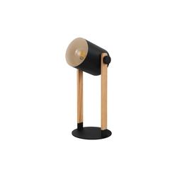 Eglo Tischleuchte Hornwood in schwarz/creme mit Holzdekor