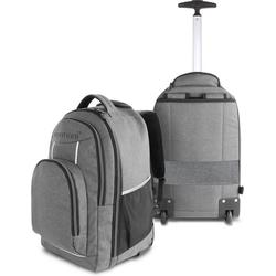 normani Daypack Rucksack mit Trolleyfunktion 30 Liter Yori, Trolley-Rucksack mit Rollen grau