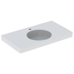 Geberit Waschtisch II PRECIOSA 900 x 500 mm, mit Ablagefläche, mit Hahnloch, ohne Überlauf weiß