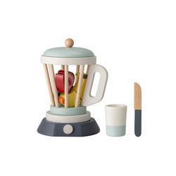 Bloomingville Spielküche Mixer-Set mit Obst Holzspielzeug, Spielzeugmixer mit Becher, Obst und Messer aus Holz für Spieleküche Kinderküche, Dänisches Design
