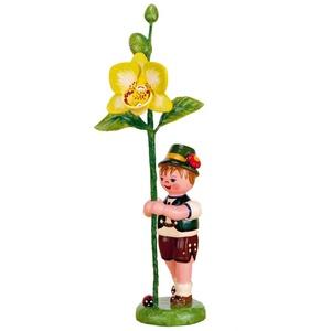 Hubrig-Volkskunst Blumenjunge mit Orchidee* Höhe 11cm