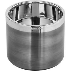 Fink Kerzenhalter VITO (1 Stück), aus Edelstahl, im modernen Design grau Ø 10 cm x 8 cm