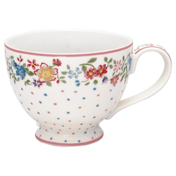Greengate Belle Teetasse Weiß