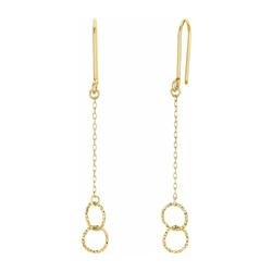 Ohrhänger für Damen, Gold 375 amor Gold
