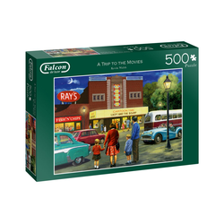 Falcon Puzzle Puzzles bis 500 Teile JUMBO-11240, Puzzleteile bunt