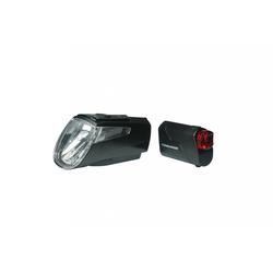 Trelock Fahrradbeleuchtung LED-Akku-Leuchten Set Trelock I-go Power LS 460/72
