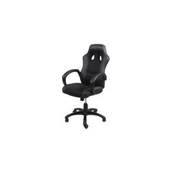 ebuy24 Drehstuhl Ravn Bürostuhl, Gamer Stuhl mit Armlehnen und Kipp schwarz
