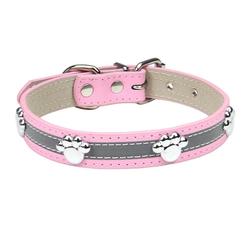esyBe Hunde-Halsband Hundehalsband, Hunde Halsband für Kleine Hunde, Verstellbare und Reflektierend, DOG02-111, Briet 1.5CM, Halsumfang26~34cm