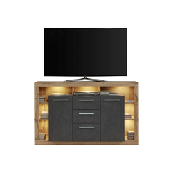 ebuy24 Sideboard Rominia Sideboard 2 Türen, 2 Schubladen, 7 Ablagen