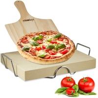 Relaxdays Pizzastein Set 5x38x30 cm