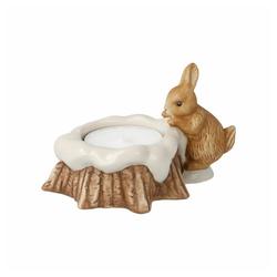 Goebel Teelichthalter Hase am Baumstumpf