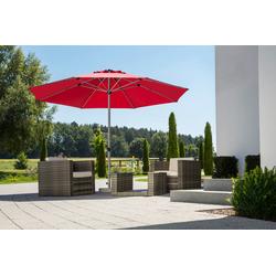 Schneider Schirme Sonnenschirm Gemini, ohne Schirmständer rot Sonnenschirme -segel Gartenmöbel Gartendeko