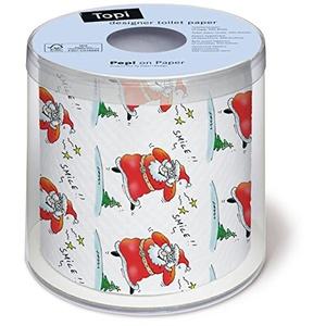 Toilettenpapier Rolle bedruckt Smile - Santa mit Weihnachtsduft