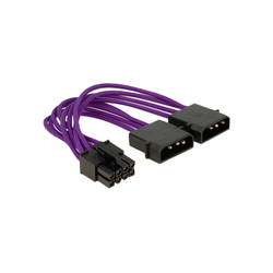 Delock Power 8Pin EPS > 2x 4Pin, Textilummantelung Adapter