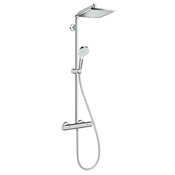 hansgrohe Crometta E - Duschsystem Showerpipe 240 1jet mit Thermostatarmatur chrom