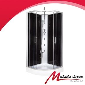 Duschtempel  Komplett Duschkabine 80x80cm inkl. Duschtasse  Duschwanne Dusche