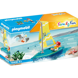 Playmobil® Konstruktions-Spielset Segeljolle (70438), Family Fun, ; Made in Germany