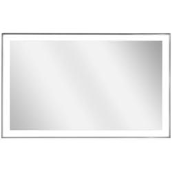 Infrarotheizung Zipris S LED 400, 400 W, Spiegelheizung mit Titan-Rahmen und Licht grau