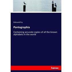 Pantographia als Buch von Edmund Fry