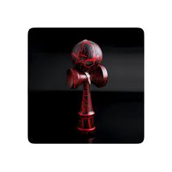 PRECORN Spiel, Kendama Geschicklichkeitsspiel mit Kugel Holzspielzeug Holz-Kugelfangspiel japanisches Geschicklichkeitsspiel Spielzeug rot