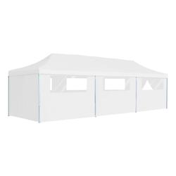 vidaXL Partyzelt vidaXL Pop-Up Partyzelt Faltbar mit 8 Seitenwänden 3x9 m Weiß