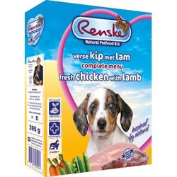 Renske Frisches Huhn & Lamm Welpen-Nassfutter (395 gr) 1 Palette (10 x 395 Gramm)