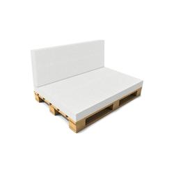neu.haus Sitzkissen, Valencia Rückenkissen Schaumstoff ideal für Palettenkissen in diversen Größen 120 cm x 40 cm x 8 cm