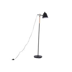 HOMCOM Stehlampe Stehlampe im industriellen Stil schwarz