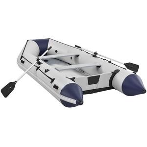ArtSport Schlauchboot 3,80 m für 6 Personen mit 2 Sitzbänke & Aluboden – Paddelboot mit Paddel, Pumpe, Tasche & Reparaturset – Angelboot aufblasbar
