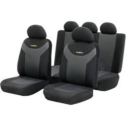 Goodyear 75529 Sitzbezug 9teilig Polyester Anthrazit, Schwarz Rücksitz, Fahrersitz, Beifahrersitz