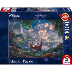 Schmidt Spiele Puzzle Disney Thomas Kinkade Rapunzel 1000 Teile Puzzle, Puzzleteile bunt