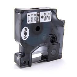 vhbw Label Tape Kassette Patronen Schriftband 9mm passend für Dymo Labelwriter Duo 450, LabelMaker PC, LabelMaker PC2, Dymo 1000, 1000+ Dymo D1, 4091