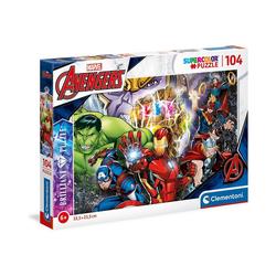 Clementoni® Puzzle Puzzle 104 Teile, Brilliant Puzzle - Marvel, Puzzleteile