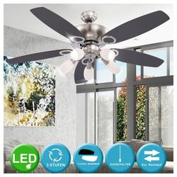 etc-shop Deckenventilator, 15 Watt LED Deckenventilator Ventilator mit Zugschalter und Beleuchtung Lampe A++