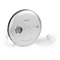 oneConcept CDC 100 MP3 Discman CD-Player CD-R/-RW/-MP3 tragbar Antishock ESP Micro-USB CD-Player (0 W) silberfarben